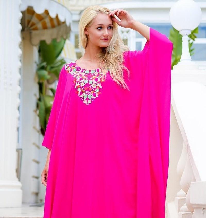 Gandoura femme 2020 rose