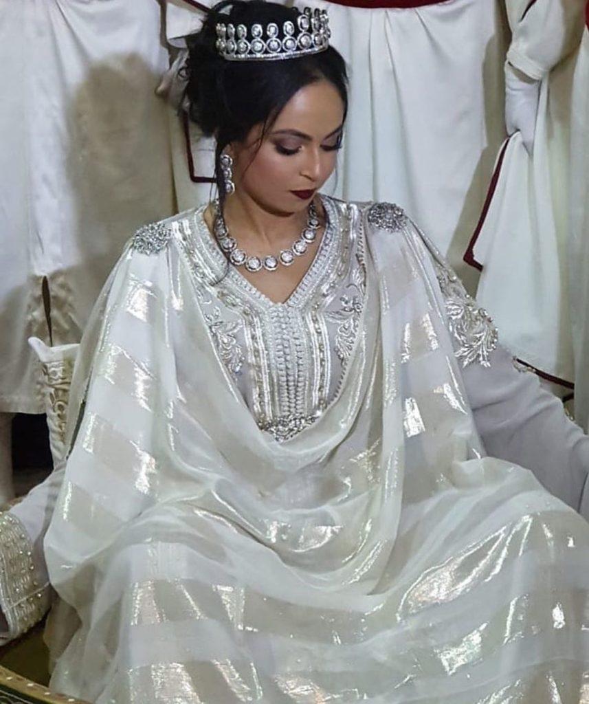 Caftan de mariée blanc pas cher