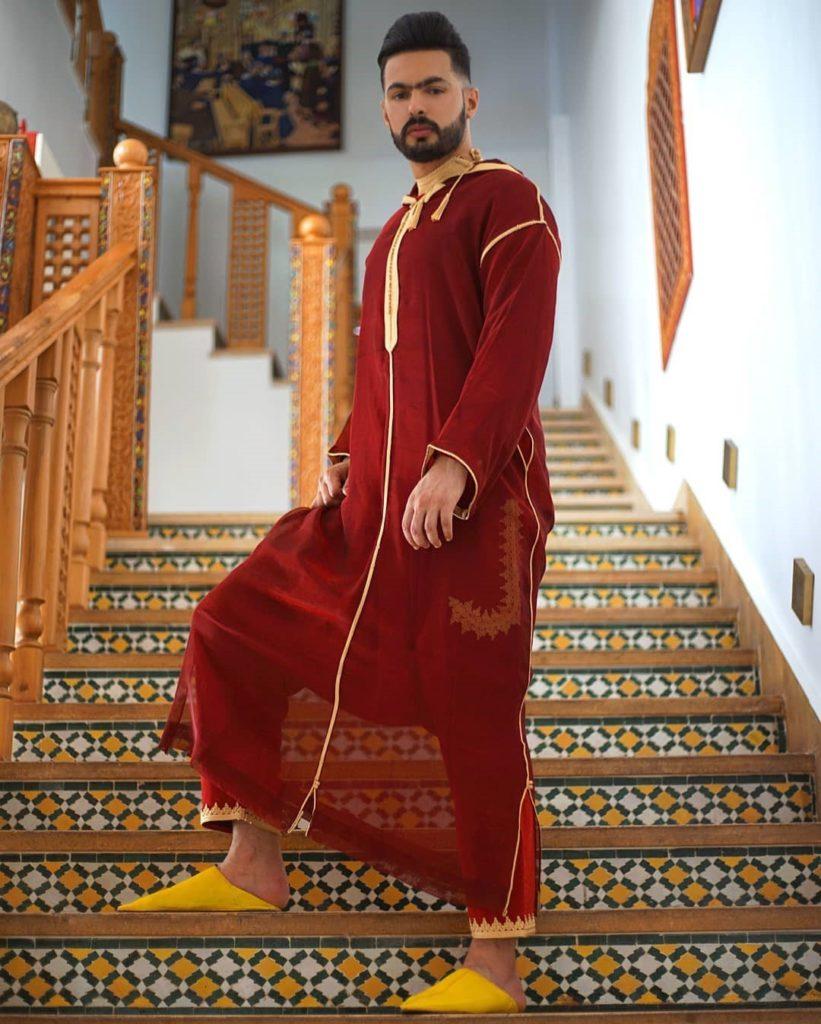 Djellaba homme avec jabador pour mariage